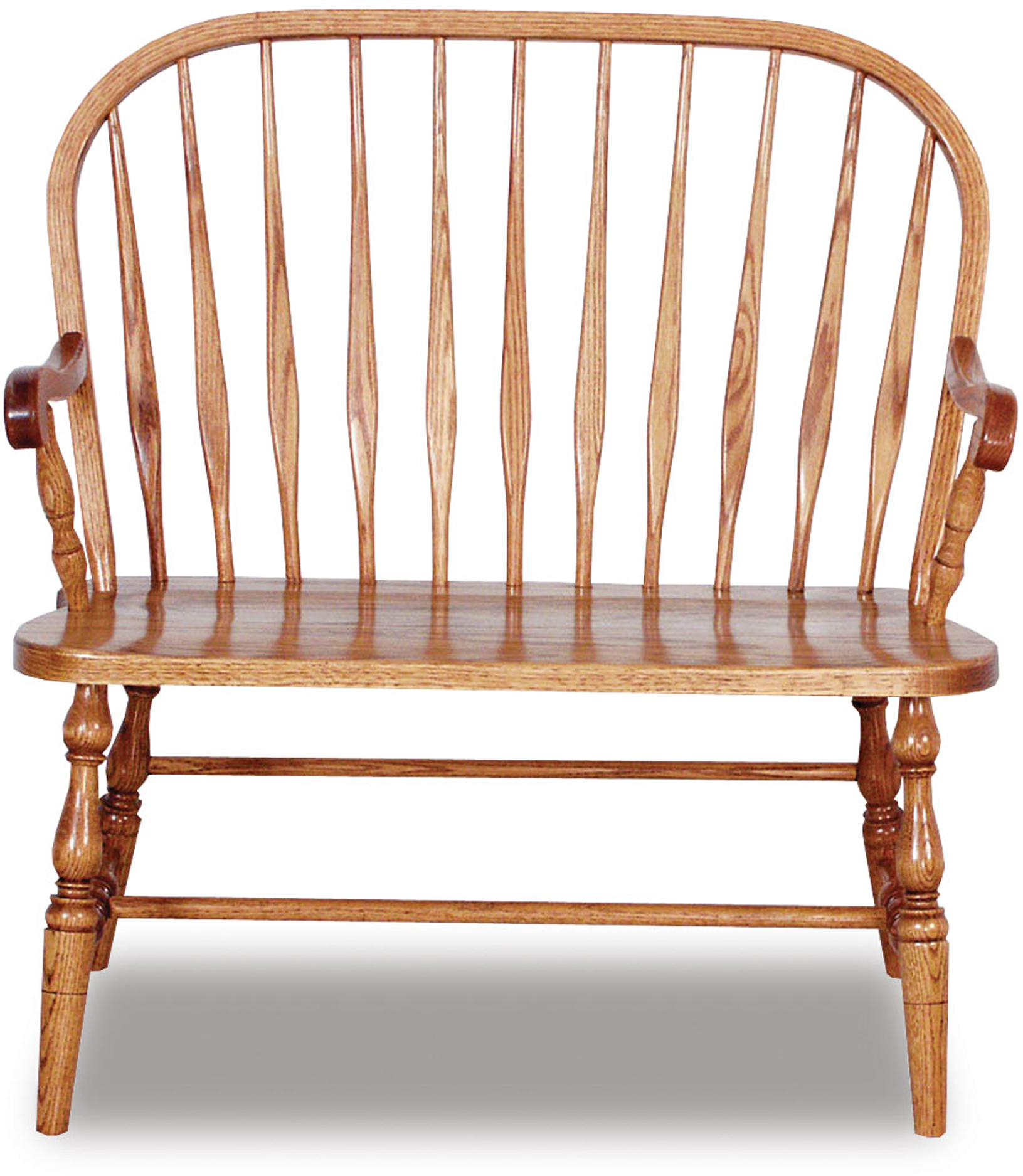 Amish Hardwood Bent Feather Bow Bench Brandenberry Amish