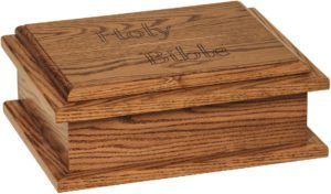 Oak Bible Box