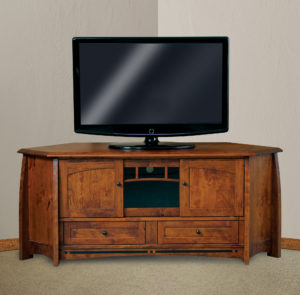 Boulder Creek Three Door Corner TV Stand