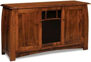 Boulder Creek Three Door Tall TV Stand
