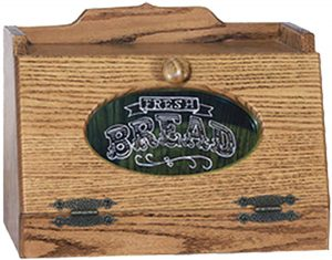 Bread Box with Glass Insert