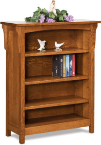 Bridger Mission Three Shelf Bookcase
