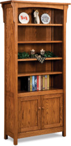 Bridger Mission Two Door Bookcase
