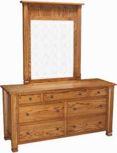 Brockport Seven Drawer Dresser with Mirror