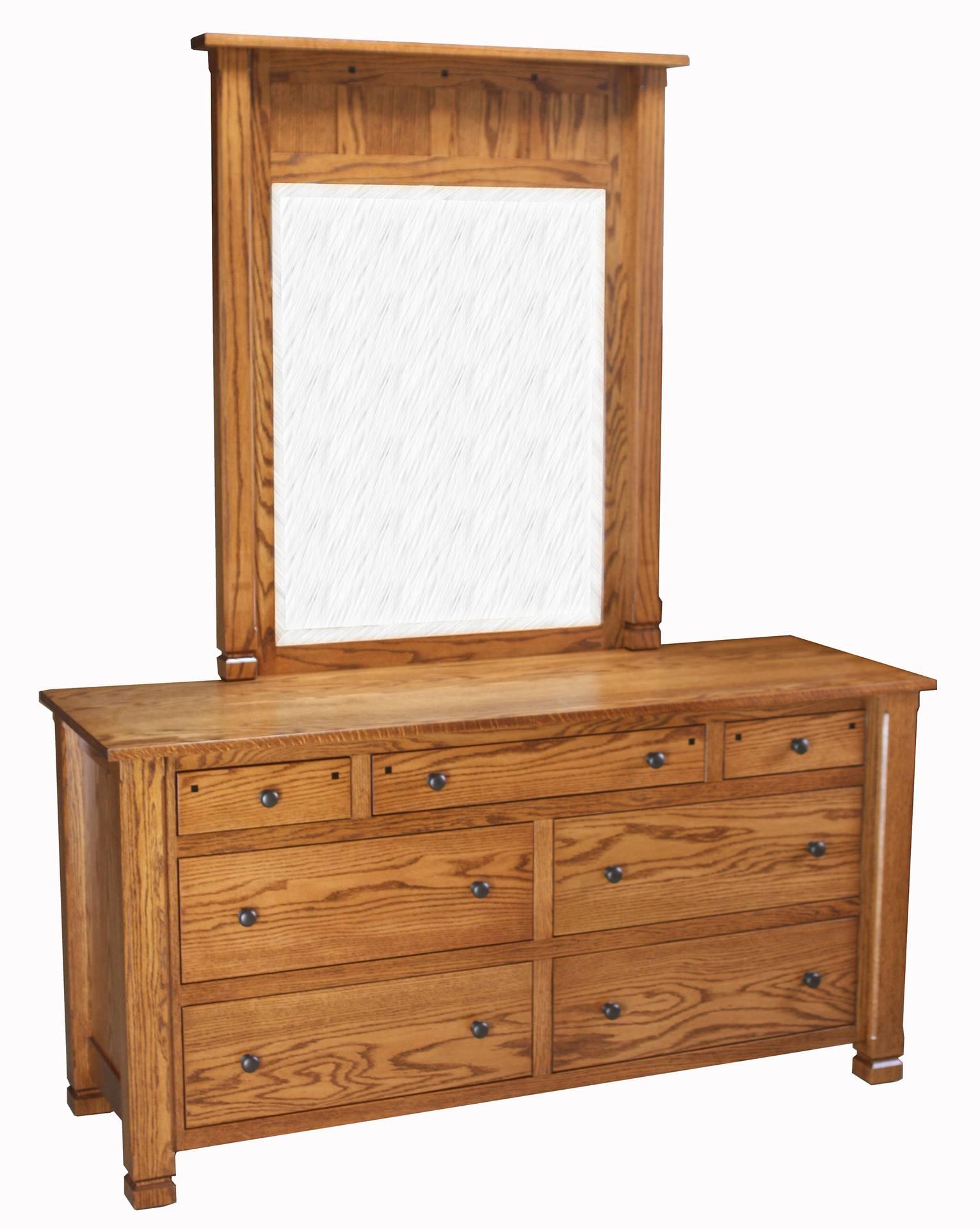 Brockport Seven Drawer Dresser with Mirror