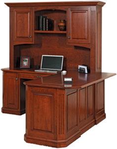 Buckingham Series Corner Desk and Hutch