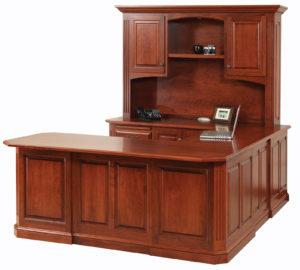 Buckingham U-Shaped Desk with Hutch