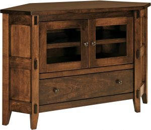 Bungalow Small Corner TV Cabinet