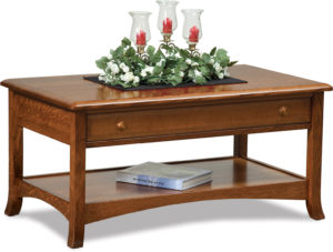 Carlisle Open Coffee Table with Drawer