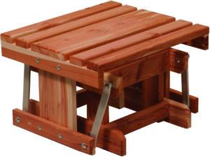 Cedar Gliding Footstool