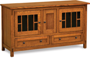 Centennial Three Door Tall TV Stand