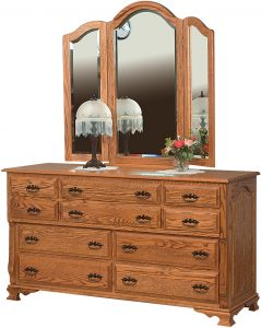 Classic Heritage Oak Ten Drawer Dresser