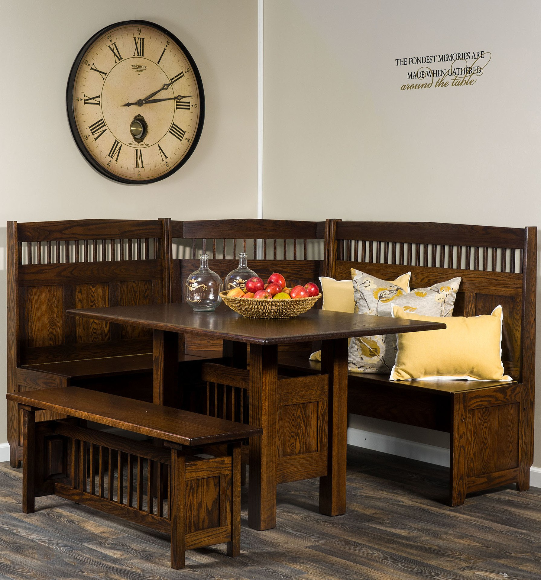 Incredible Amish Classic Mission Dining Nook Brandenberry Amish Furniture Caraccident5 Cool Chair Designs And Ideas Caraccident5Info