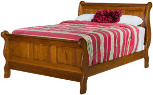 Classic Raised Panel Sleigh Bed