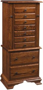 Deluxe Clockbase Jewelry Armoire