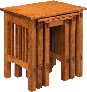 Deluxe Mission Nesting Table Set