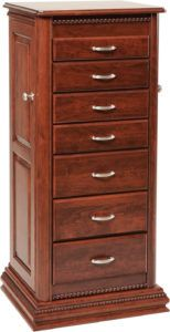 Deluxe Rope Twist Jewelry Armoire
