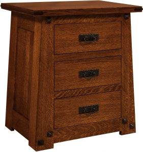 Encada Three Drawer Nightstand