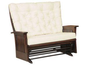 Finley Slat Deluxe Glider Love Seat