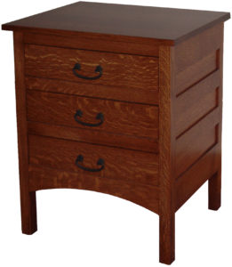 Granny Mission Three Drawer Nightstand