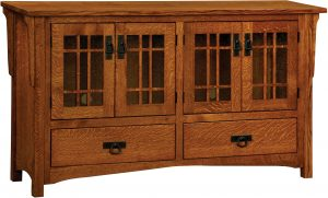Greenwood Mission Four Door Plasma TV Cabinet