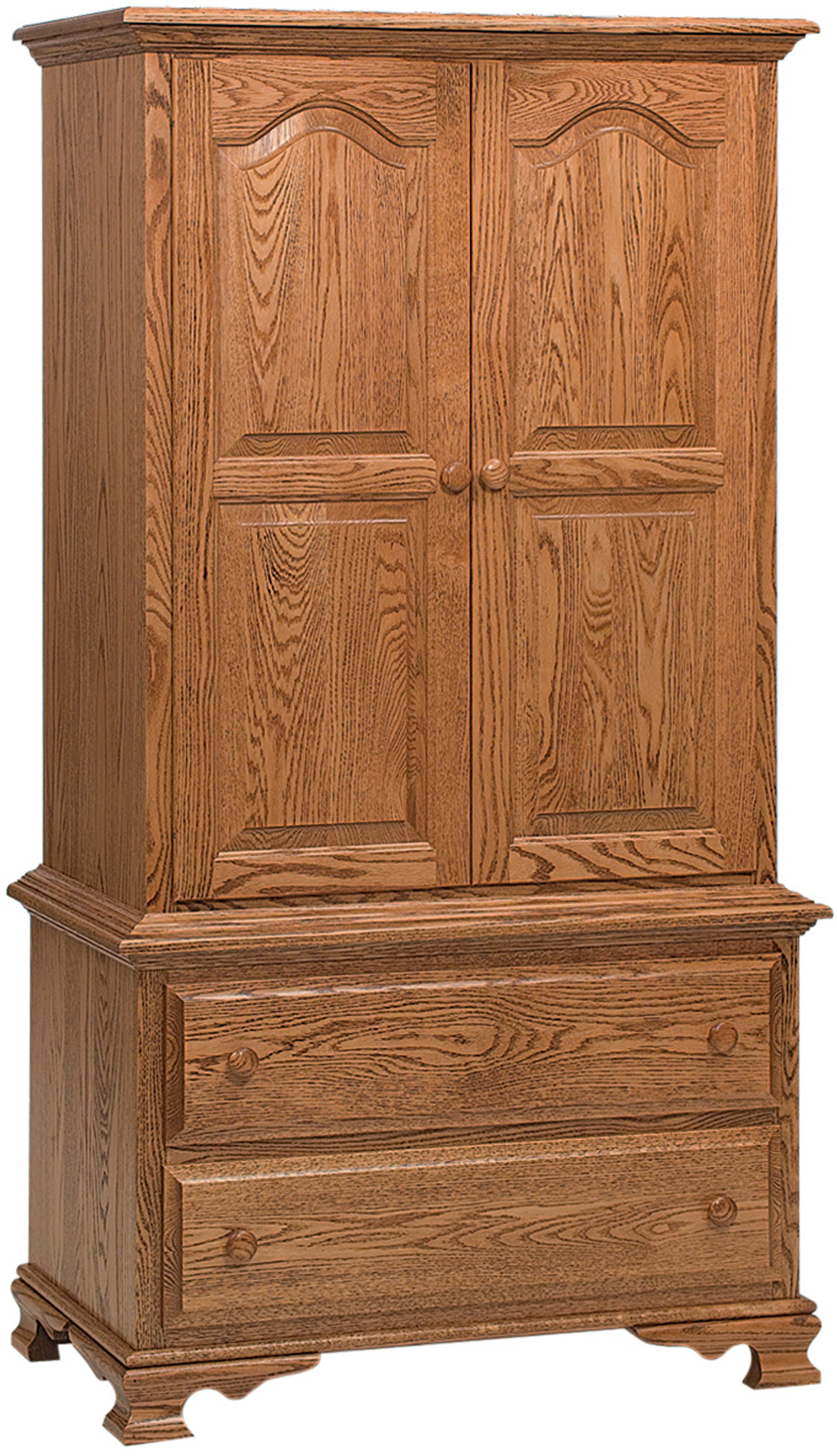 Amish Heritage Chest on Chest Armoire - Brandenberry Amish ...