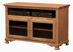 Heritage TV Console with Glass Doors