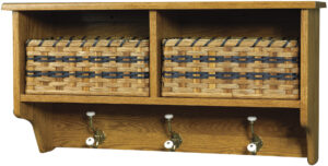 Holland Wall Shelf with Two Baskets