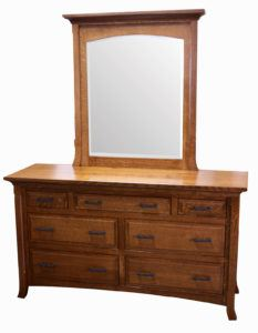 Homestead Seven-Drawer Dresser and Mirror
