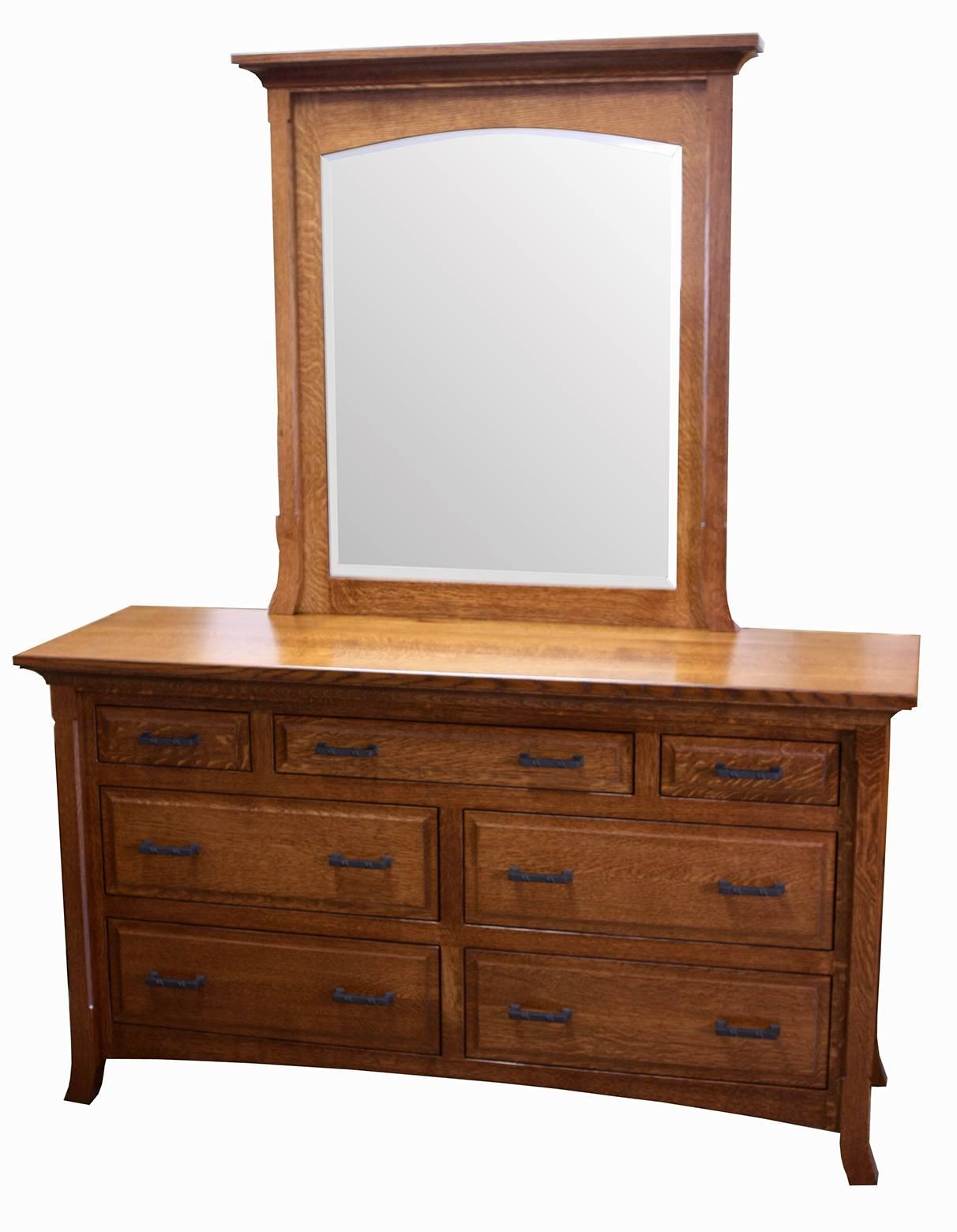Homestead Seven-Drawer Dresser and Mirror