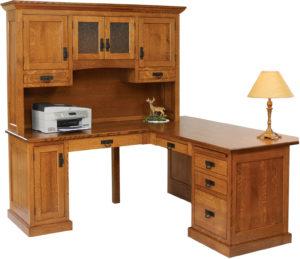 Homestead 66 Inch Corner Desk and Hutch