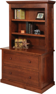 Homestead Lateral File with Bookshelf