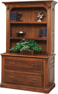 Jefferson 48 Inch Lateral File with Bookshelf