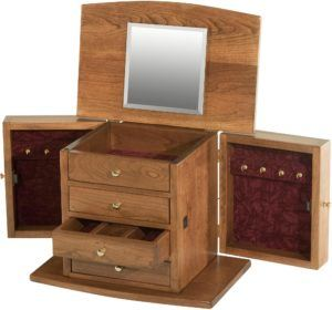 Four Drawer Cherry Jewelry Chest