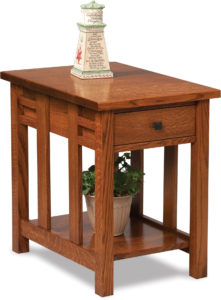 Kascade Open End Table with Drawer