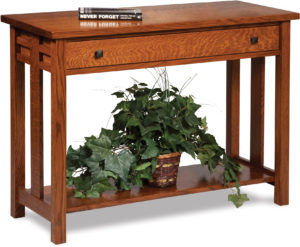 Kascade Open Sofa Table with Drawer