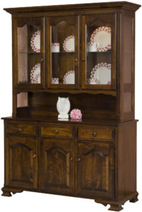 LaGrange Three Door Open Hutch