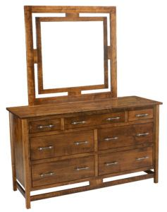 Lakota Seven Drawer Dresser and Mirror