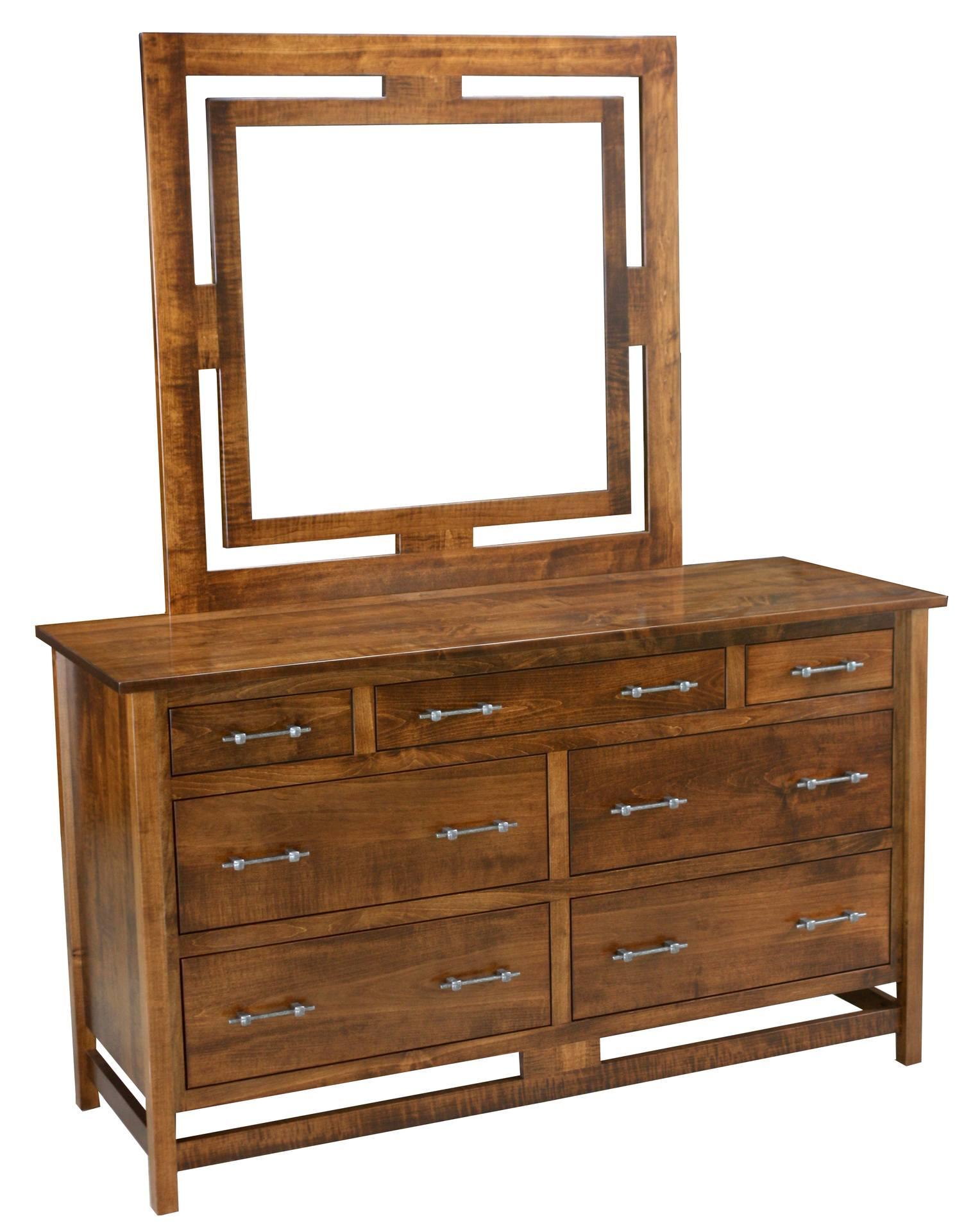 Lakota Seven Drawer Dresser and Mirror
