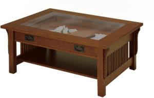 Landmark Glass Top Coffee Table