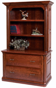 Lexington Lateral File with Bookshelf
