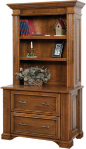 Lincoln 43 Inch Lateral File with Bookshelf