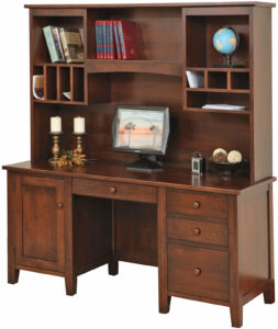 Manhattan 66 Inch Credenza Base and Hutch