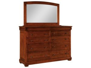 Marshfield 10 Drawer Dresser with Mirror