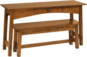 McCoy Open Nesting Sofa Table and Bench