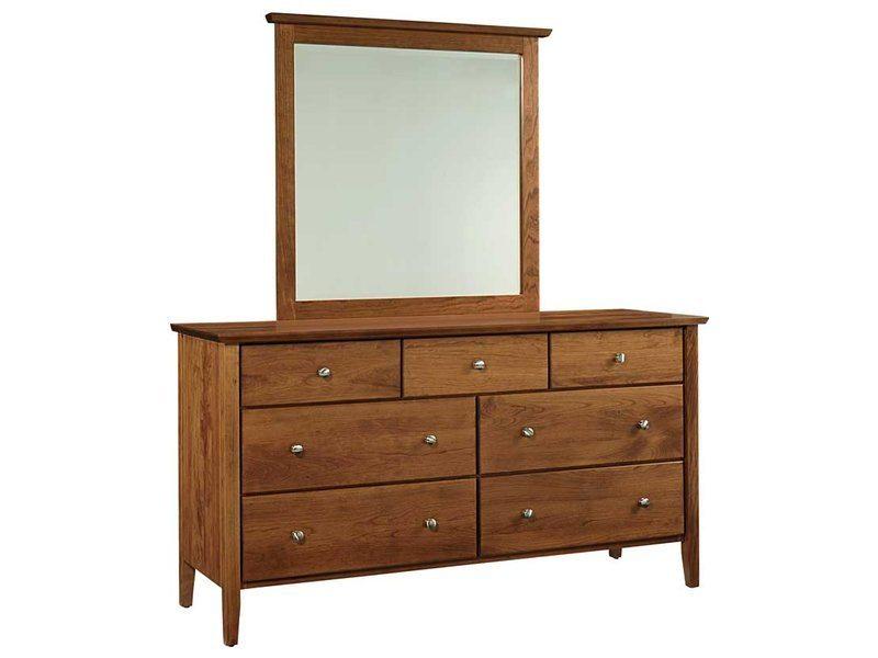 Medina 7 Drawer Dresser and Mirror