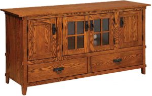Mission Four Door, Two Drawer Plasma TV Cabinet