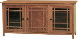 Mission Large Three Door TV Console