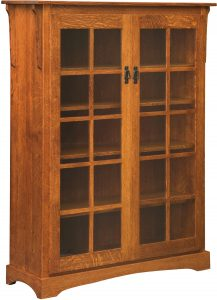 Mission Bookcase with Two Doors