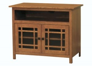Mission Small Two Door TV Console